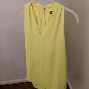 Neon yellow VINCE flowy top